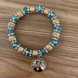 New Frida Kahlo Blue Gold Bracelet